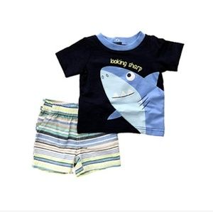 Boys Shark 2 Piece Set